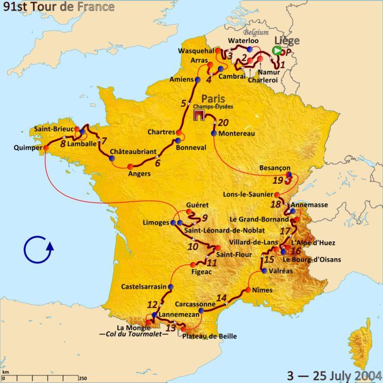 2004 Tour de France, Prologue to Stage 9
