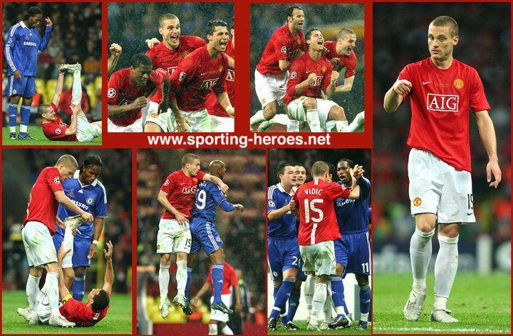 2008 UEFA Champions League Final Nemanja Vidic UEFA Champions League Final 2008 Manchester United FC