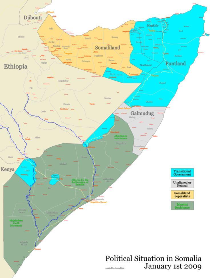 2009 timeline of the War in Somalia