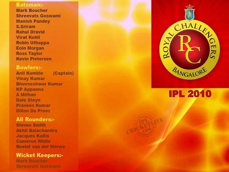 2010 Indian Premier League IPL 2017 Indian Premier League 2017 Royal Challengers Bangalore