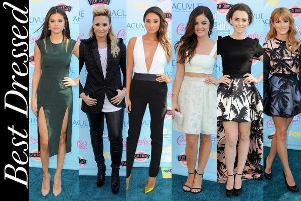 2013 Teen Choice Awards Teen Choice Awards 2013 Our 6 top picks for best dressed on the red