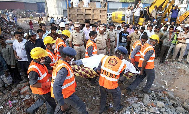2013 Thane building collapse Thane building collapse Two builders arrested toll 72 Indian Express