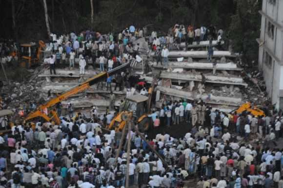 2013 Thane building collapse Thane building collapse toll mounts to 44 Rediffcom News