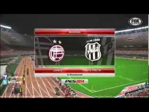 2014 Copa Sudamericana Lanus vs Ponte Preta VUELTA Copa Total Sudamericana 2013 PES