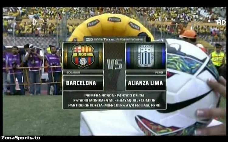 2014 Copa Sudamericana FUTBOL Copa Sudamericana SC Barcelona v Lima 21082014