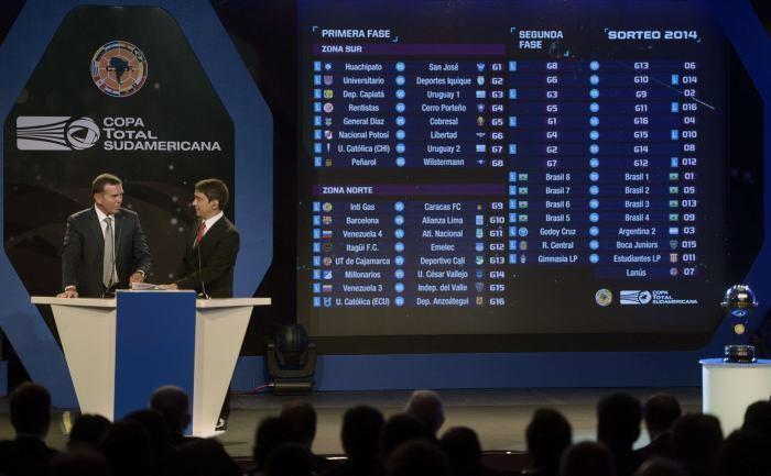 2014 Copa Sudamericana Conmebol sorte la Copa Sudamericana 2014 ftbol sudamericano EL