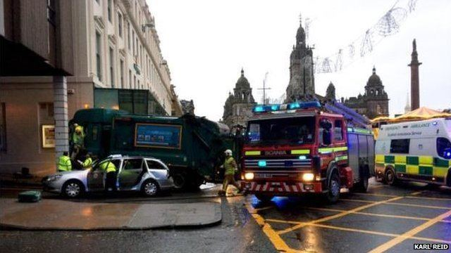 2014 Glasgow bin lorry crash Glasgow bin lorry crash 22 December 2014 BBC News