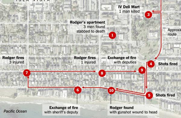 2014 Isla Vista killings Trail of Violence in Isla Vista The New York Times