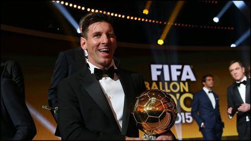 2015 FIFA Ballon d'Or Messi wins the FIFA Ballon d39Or 2015 Ronaldo finished second