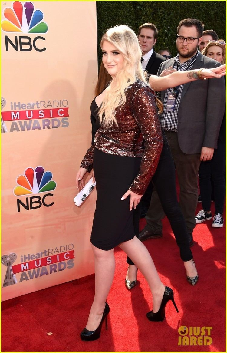 2015 iHeartRadio Music Awards Meghan Trainor Rocks an LBD at the iHeartRadio Music Awards 2015