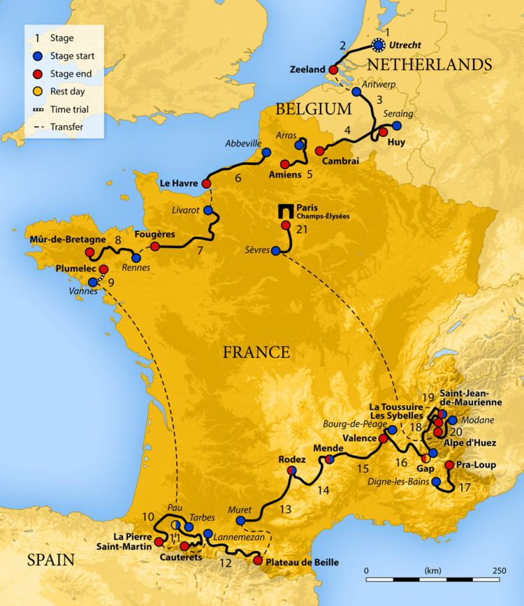 2015 Tour de France, Stage 12 to Stage 21