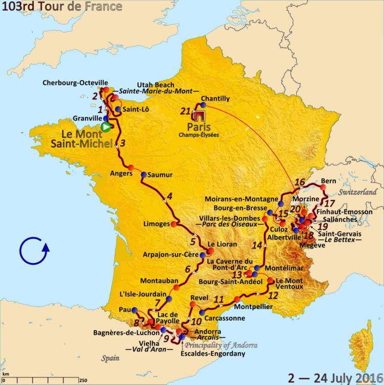 2016 Tour de France, Stage 1 to Stage 11