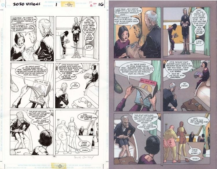 2020 Visions 2020 visions 1 pag 16 in Juan Luis Gomez39s Frank Quitely Comic Art