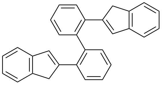 2,2'-Bis(2-indenyl) biphenyl
