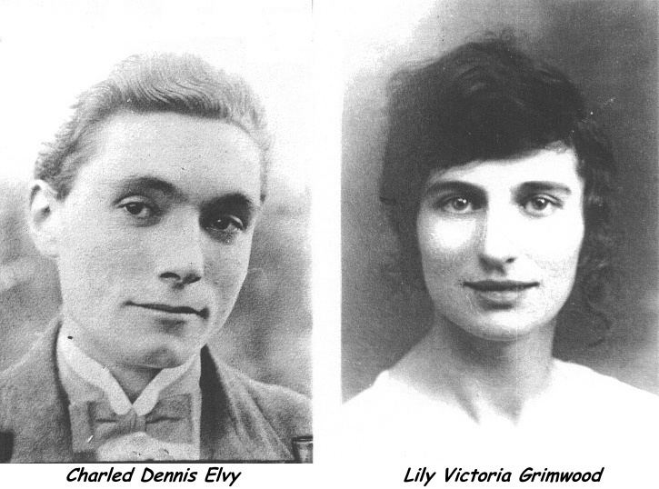 22 June 1897 Charles Dennis Elvy 26 March 1902 9 June 1954 and Lily Victoria