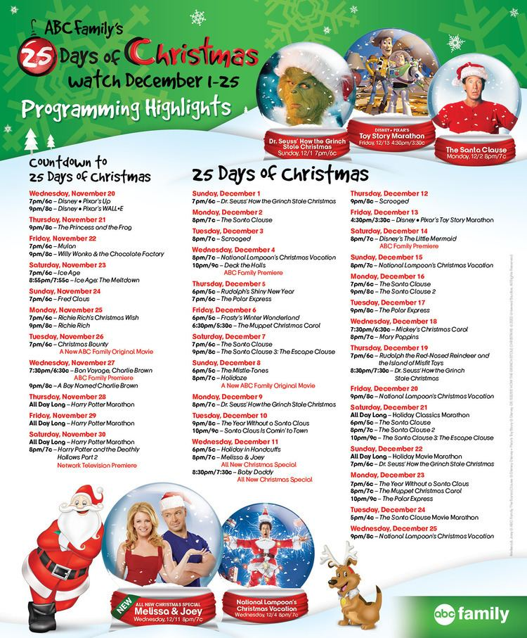 Abc Family 25 Days Of Christmas.25 Days Of Christmas Alchetron The Free Social Encyclopedia