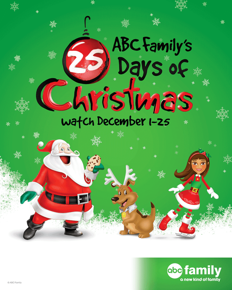 original movies 25 days of christmas abc family39s 25 days of christmas now on fios life without pink - Abc Family Original Christmas Movies