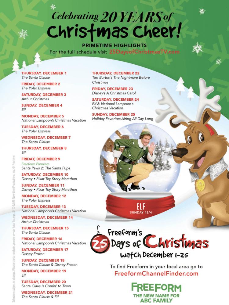 25 days of christmas abc family 25 days of christmas movies 2017 freeform - Christmas Movies Abc Family