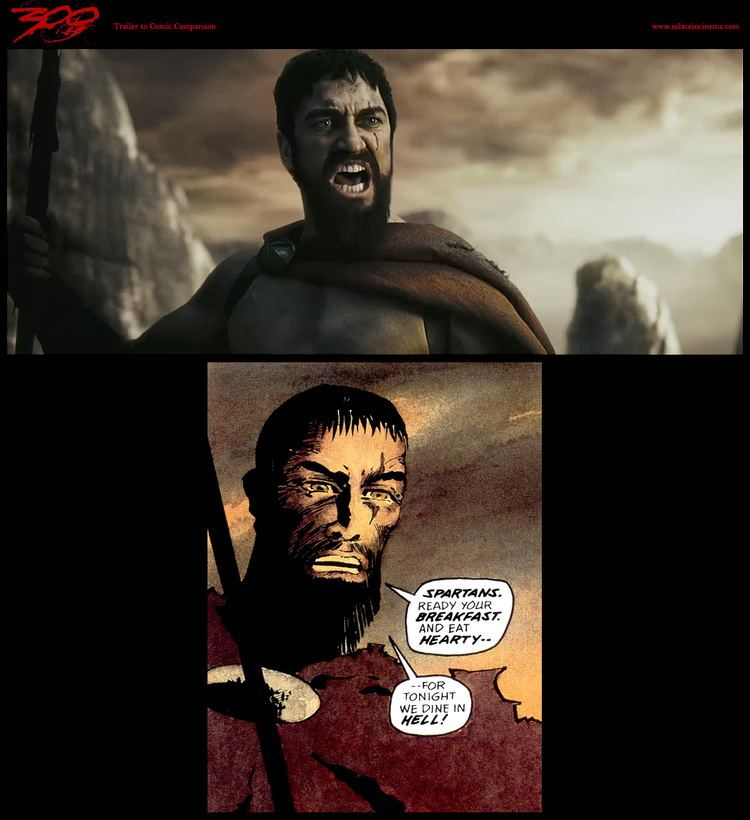 300 (comics) 300 comic to screen comparison UPDATED Solace in Cinema