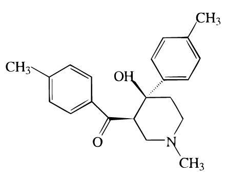 4-Hydroxy-1-methyl-4-(4-methylphenyl)-3-piperidyl 4-methylphenyl ketone