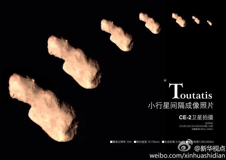 4179 Toutatis China joined the interplanetary club by successfully imaging the