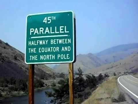 45th parallel north 45th Parallel Halfway between the Equator and the North Pole in
