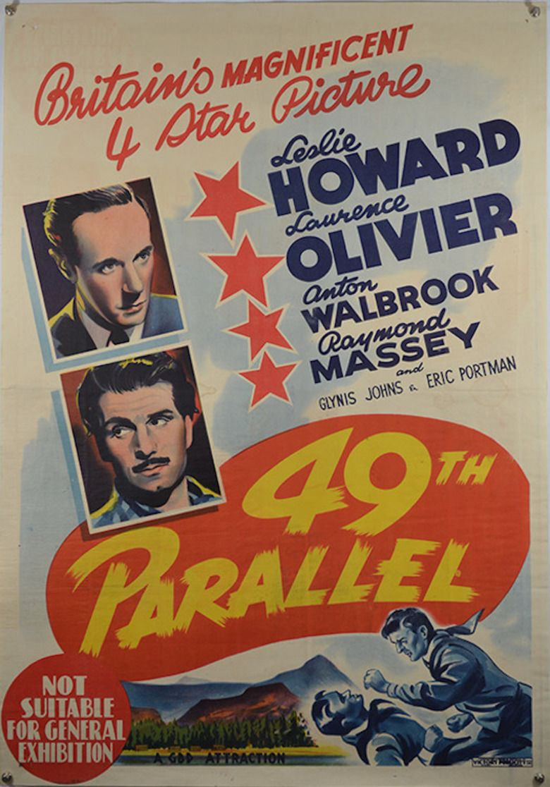 49th Parallel (film) movie poster