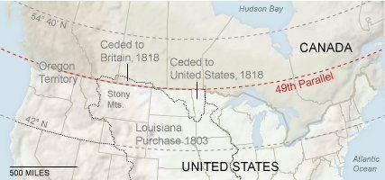 49th parallel north The NotSoStraight Story of the USCanadian Border The New York