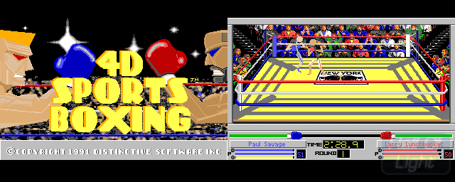 4D Sports Boxing 4D Sports Boxing Hall Of Light The database of Amiga games