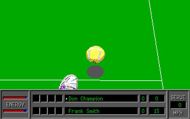 4D Sports Tennis Download 4D Sports Tennis sports retro game Abandonware DOS