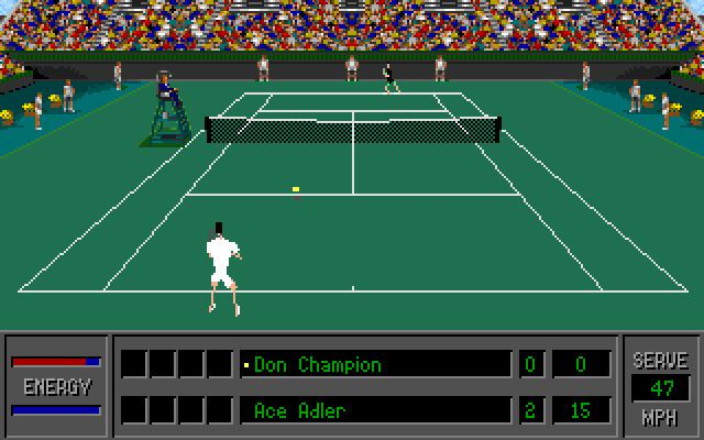 4D Sports Tennis 4D Sports Tennis 1992 by Distinctive Software for MSDOS