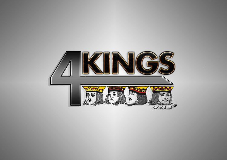 4Kings 4kings Logo Tipo desenvolvido Eating Idea Photoshop Renato