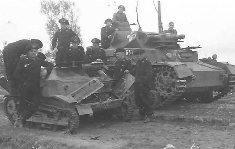 4th Panzer Division (Wehrmacht) Panzer IV Ausf C 631 of the 4th Panzer Division Miedzno Poland 1939
