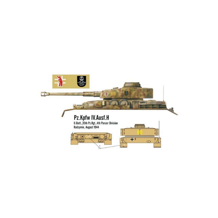 4th Panzer Division (Wehrmacht) Panzer IV Ausf H IIBatt35th PzRgt 4th Panzer division Radzymi
