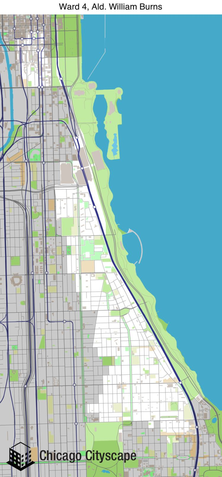 4th Ward, Chicago wwwchicagocityscapecommoatpbwards2015ward4png