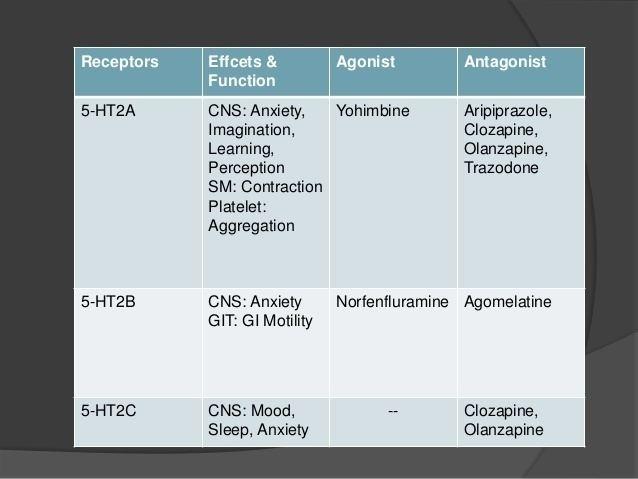 5-HT receptor Serotonin receptors