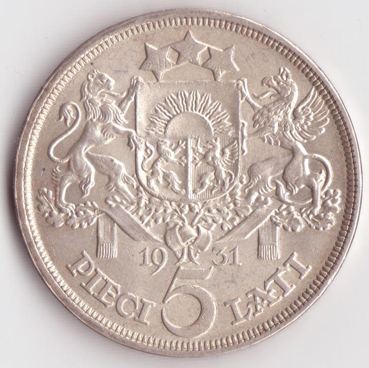 5 lats coin
