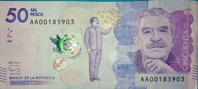 50,000 Colombian peso note