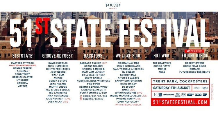 51st state RA Found presents 51st State Festival at Trent Country Park