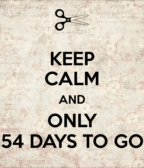 54 Days KEEP CALM AND ONLY 54 DAYS TO GO Poster VALE Keep CalmoMatic