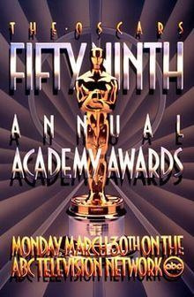 59th Academy Awards httpsuploadwikimediaorgwikipediaenthumb3