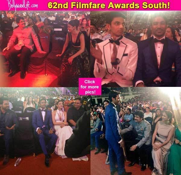 62nd Filmfare Awards South 62nd Filmfare Awards South Dhanush Nagarujna Shruti Haasan and