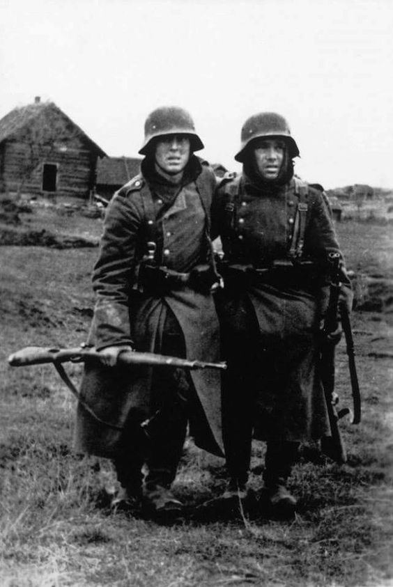 6th Army (Wehrmacht) 1942 A pair of tired Wehrmacht soldier of the mighty German 6th