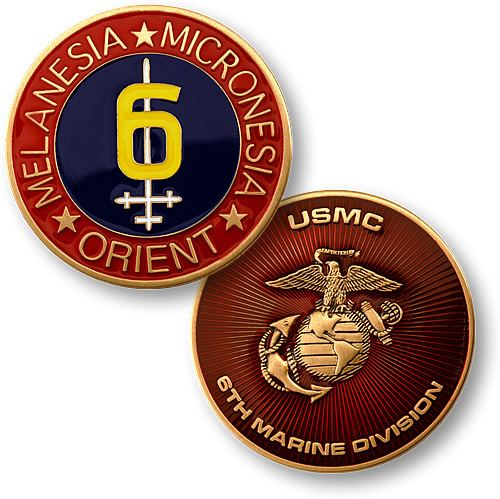 6th Marine Division (United States) 6th Marine Division Coin