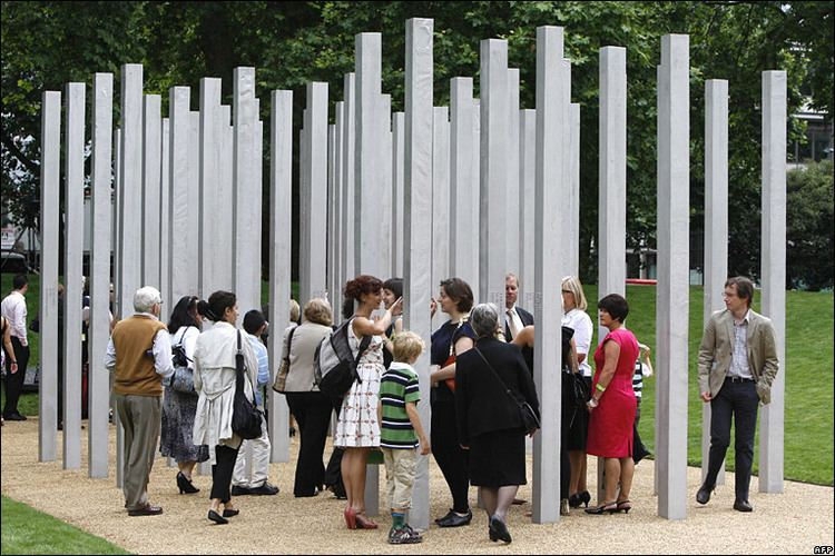 7 July Memorial BBC NEWS In Pictures In pictures 7 July memorial unveiled