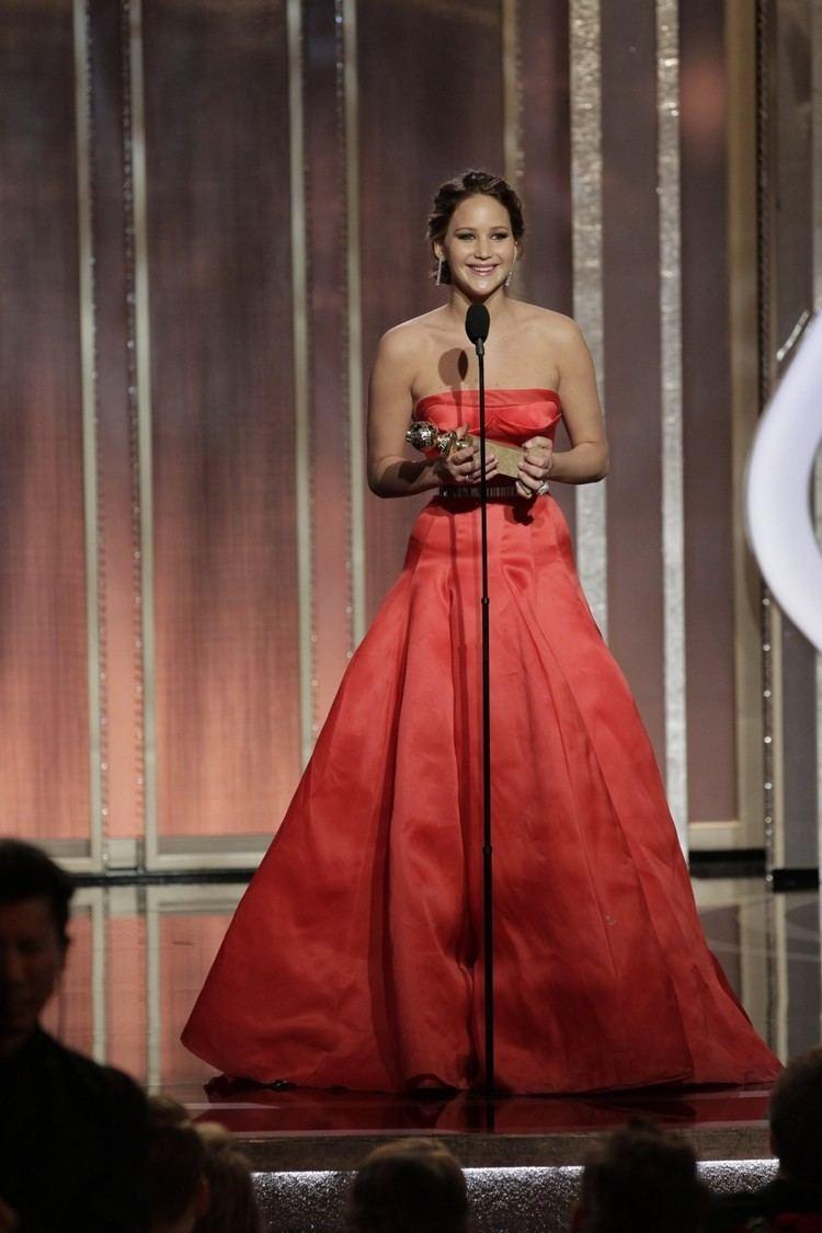 70th Golden Globe Awards Golden Globes 2013 Jennifer Lawrence Anne Hathaway and Adele Shine
