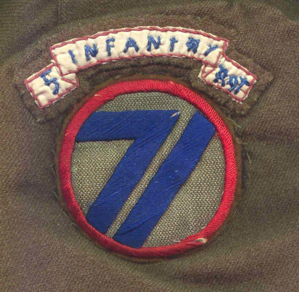 71st Infantry Division (United States) 71st Infantry Patch 5th INFANTRY REGIMENT ASSOCIATION