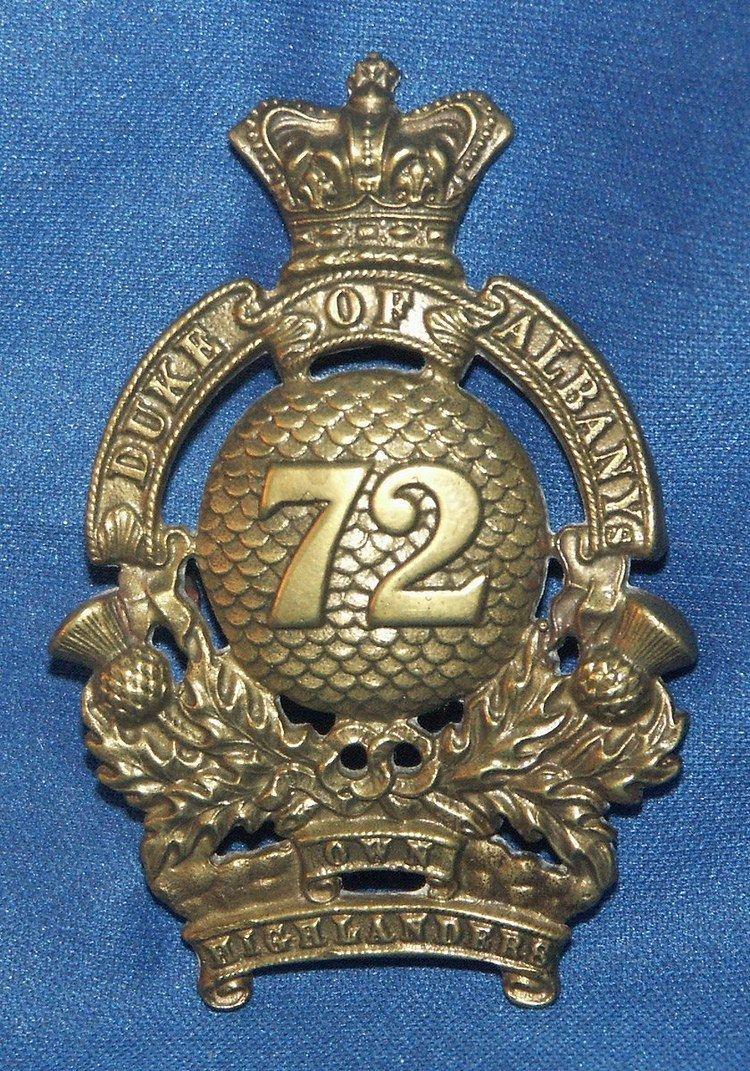 72nd Regiment, Duke of Albany's Own Highlanders