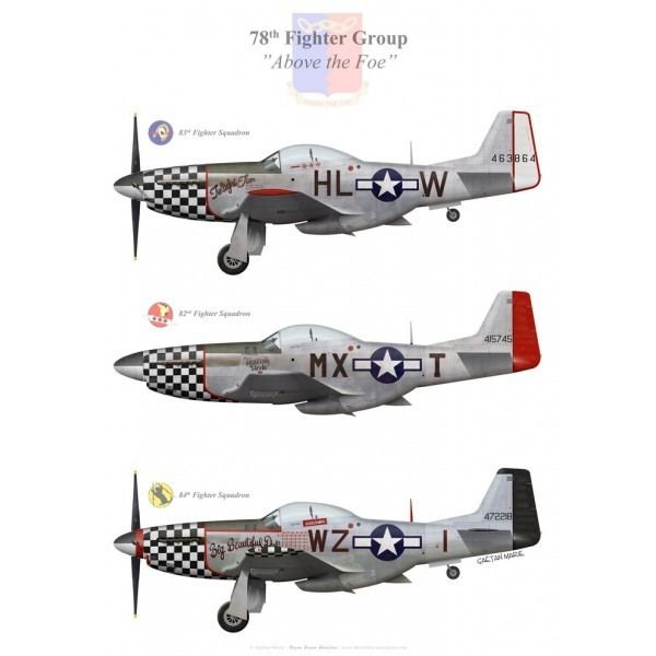 78th Fighter Group P51D Mustangs of the 78th Fighter Group US Army Air Forces Bravo