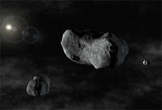 87 Sylvia 8102005 First triple asteroid system found